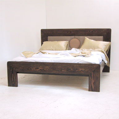 Redhouse Bed Frame 140 Art Deco Wooden Bed Solid