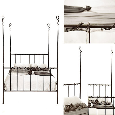 Redhouse Bed Frame 45 Four Poster Handforged Wrough
