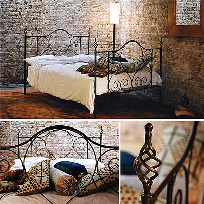 redhouse bed frame 77 handforged wrough iron bed - Wrought Iron King Bed Frame